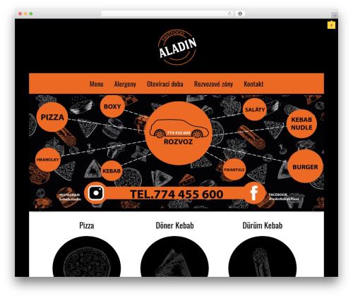 Linofeast WordPress pizza theme - aladinkebab.cz
