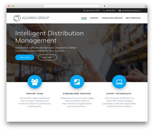 Mesmerize PRO business WordPress theme - acumengroup.us