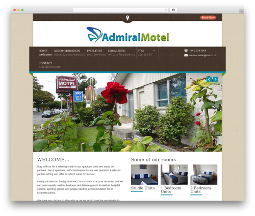 Free WordPress Alligator Popup plugin - admiralmotel.co.nz