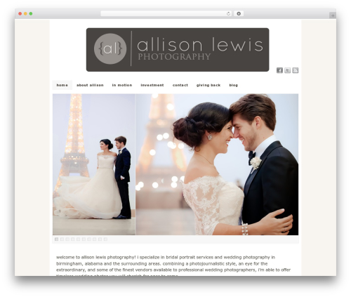 PlatformPro WP theme - allisonlewisphotography.com