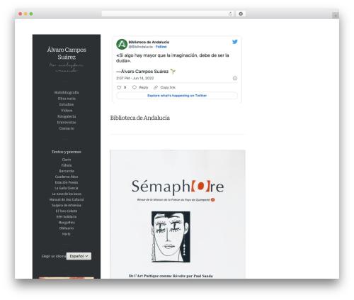 Free WordPress WP font-face plugin - alvarocampossuarez.com/es
