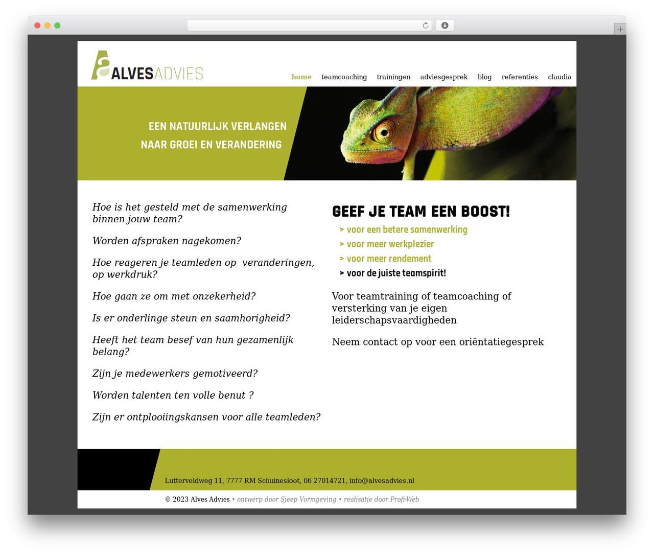 Template WordPress Alves Advies - alvesadvies.nl