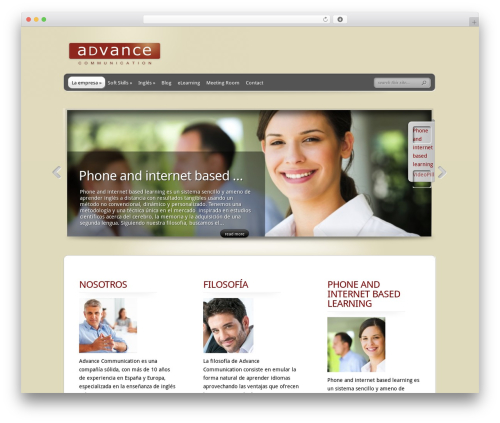 TheProfessional WP theme - advancecommunication.es