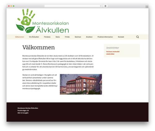 Twenty Thirteen free website theme - alvkullen.se