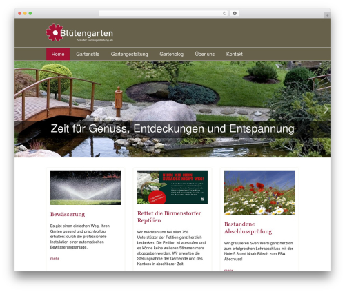 Twenty Thirteen WordPress theme - agfuergaerten.ch