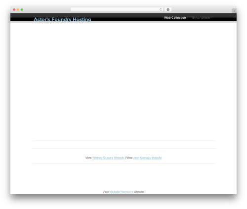 WordPress template Clearly Modern - actorsfoundryhosting.com