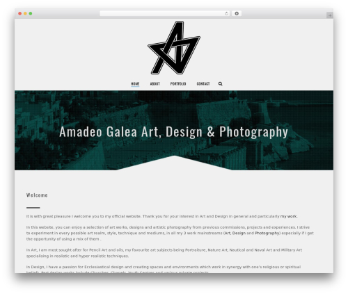 WordPress theme Jupiter - amadeogaleaart.com