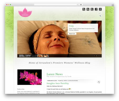 WordPress theme Prestige Ultimate Wordpress Theme - acupuncturebysarah.com