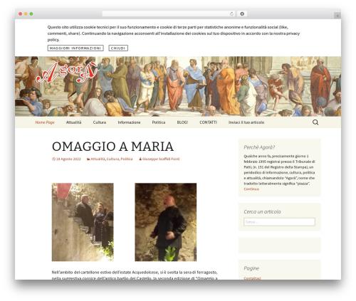 Agora WordPress theme - agoraonline.info