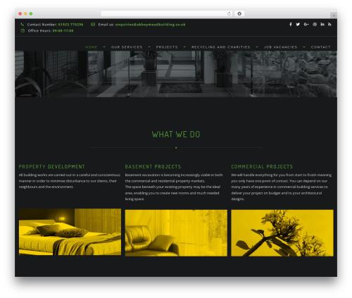 Archi WordPress template - abbeymeadbuilding.co.uk