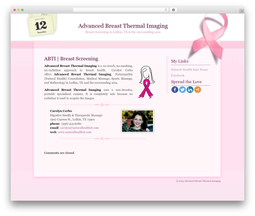 Best WordPress template One Day at a Time - advancedbreastthermalimaging.com