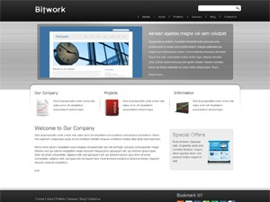 Bitwork Silver WordPress theme
