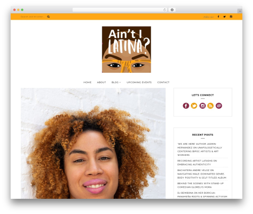 Bluebird WordPress theme - aintilatina.com