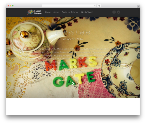 Fable WordPress theme - alocaldialogue.com