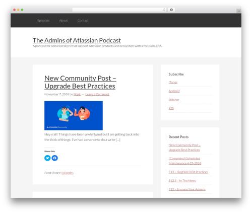 Genesis WordPress template - adminsofatlassian.com