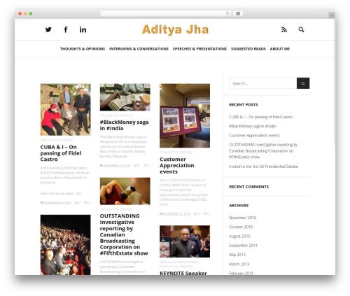 Heap WordPress theme design - aditya.ca