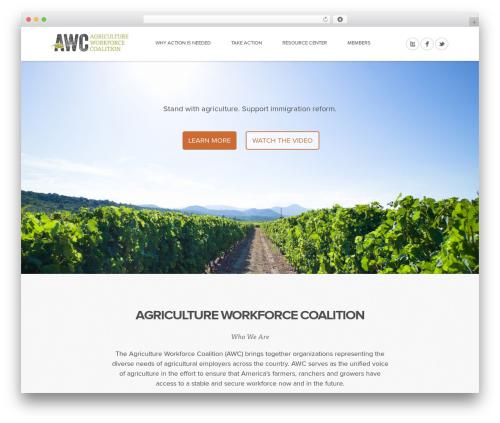 Mineral best WordPress theme - agworkforcecoalition.org
