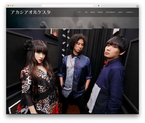 Music Club WordPress theme - acacia-o.com