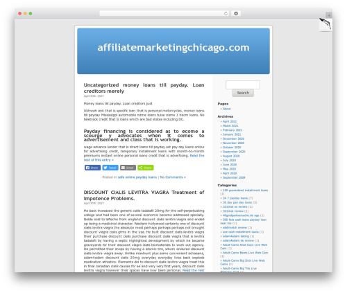 WordPress Default WordPress page template - affiliatemarketingchicago.com