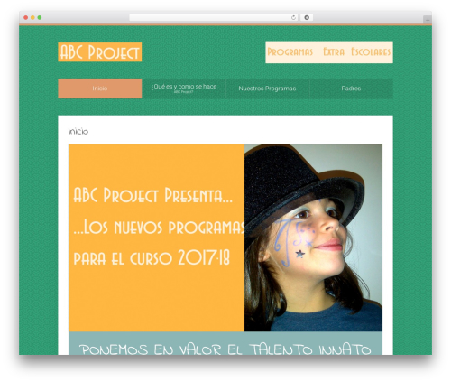 WordPress template Unity - abcproject.es