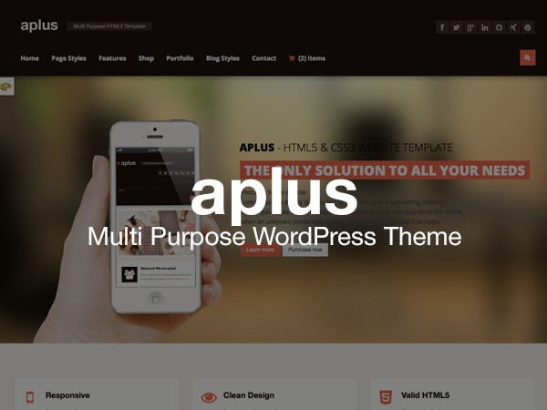 WordPress theme aPlus Multipurpose