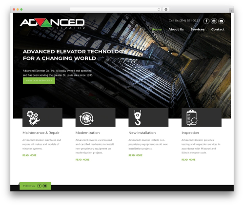 WordPress theme Construction - advancedelevator-stl.com