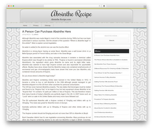 WordPress theme Innovative Child Theme - absinthe-recipe.com