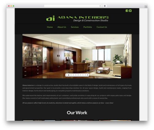 Free WordPress Cornerstone plugin - abanainteriors.com