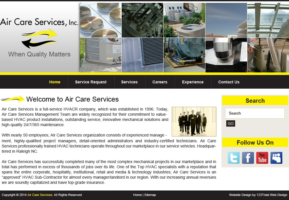 Air Care Services WP theme