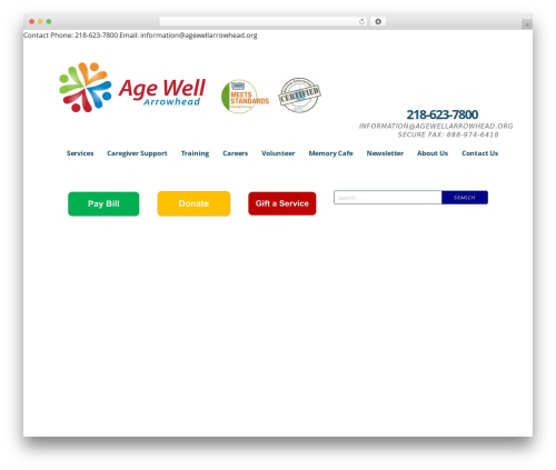 Ascension WordPress theme - agewellarrowhead.org