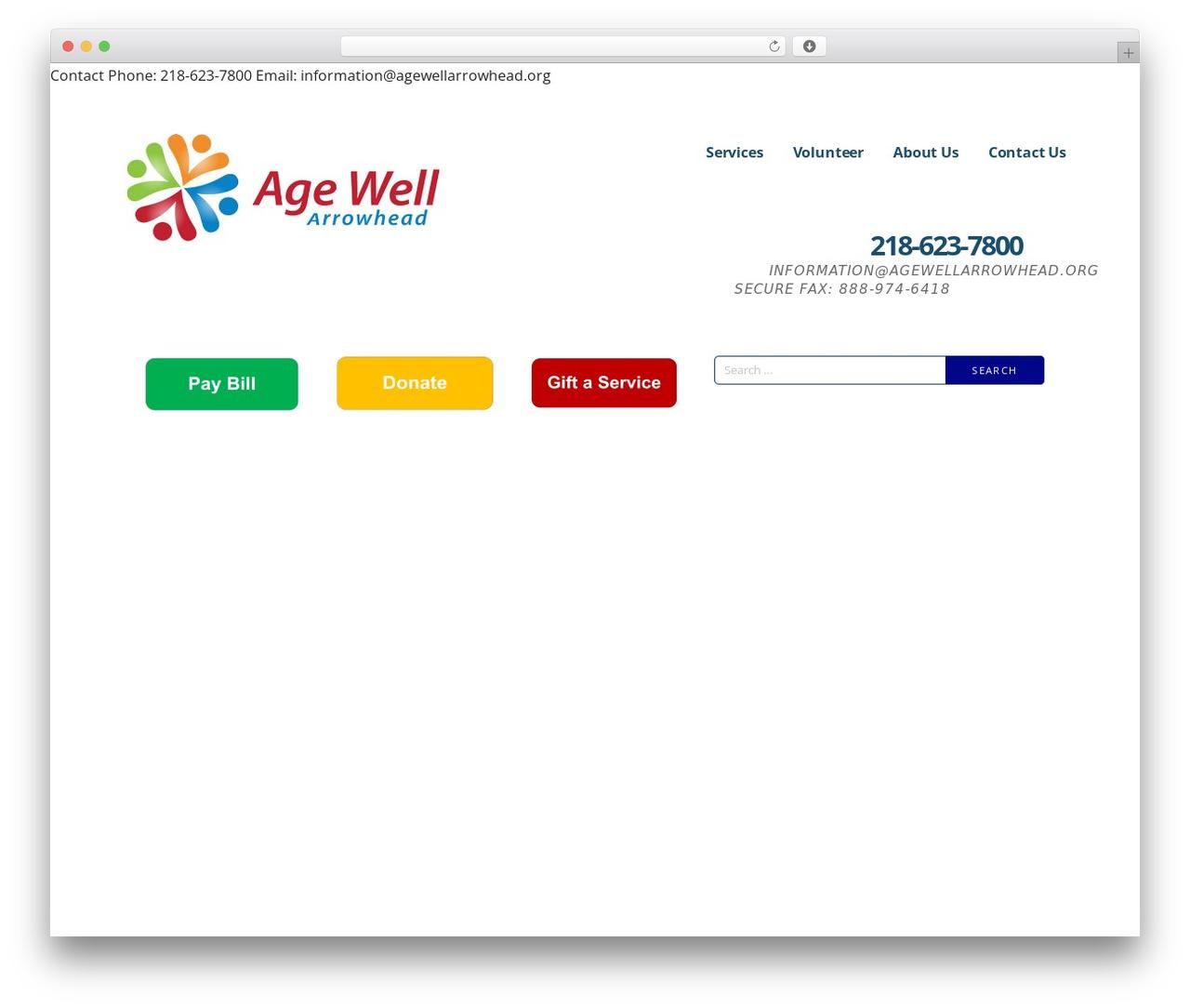 Ascension WordPress theme - agewellarrowhead.org