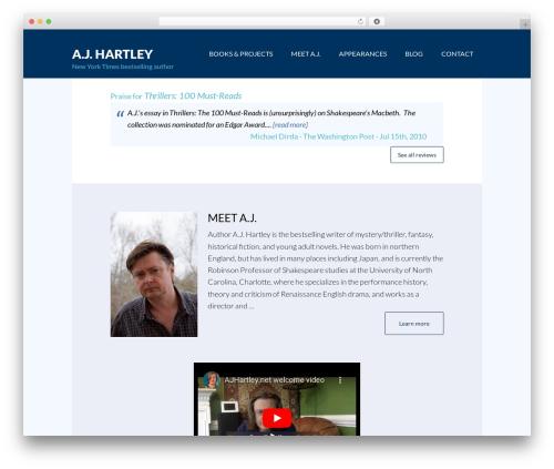 Best WordPress template Author Pro Theme - ajhartley.net