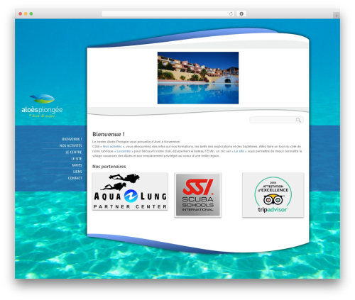 BioSphere WordPress template - aloesplongee.fr