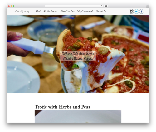 Bootstrap Blog template WordPress - actuallytasty.com