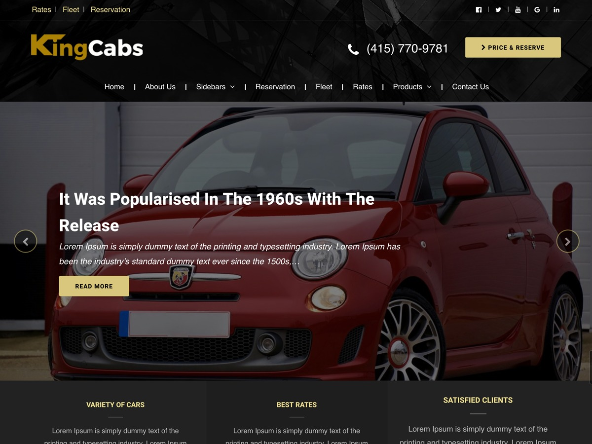 kingcabs WordPress shopping theme