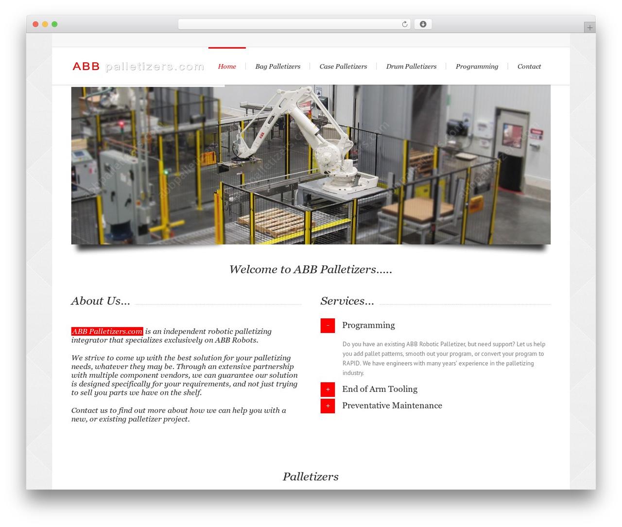 Lounge best WordPress template - abbpalletizers.com