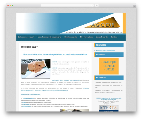 Myst template WordPress - agodis.org