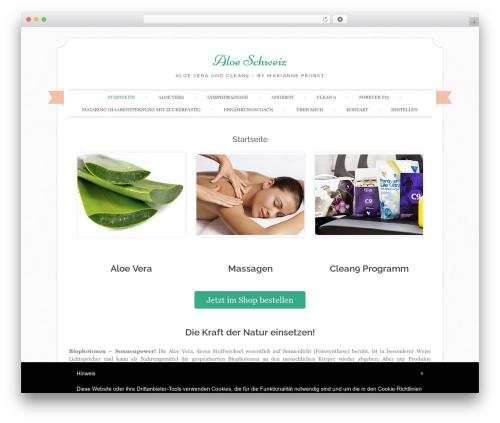 Template WordPress Sugar and Spice - aloeschweiz.ch