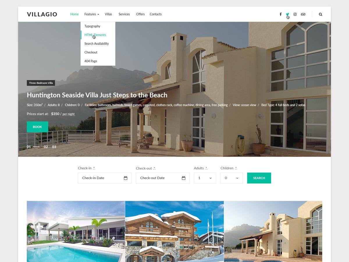Villagio company WordPress theme