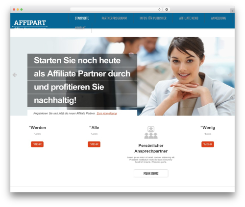 WordPress website template cherry - affiliate-partnerprogramm.de