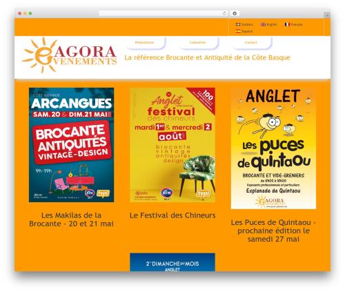 Agora WordPress theme - agora-evenements.fr