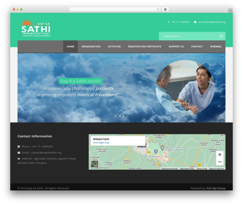 Best WordPress theme Charity Hub - aapkasathi.org