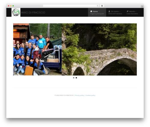 Best WordPress theme Enlightenment - amicidifraciscio.it