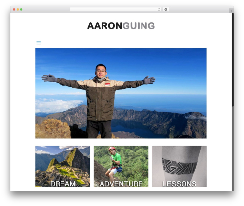 Betheme WordPress blog template - aaronguing.com