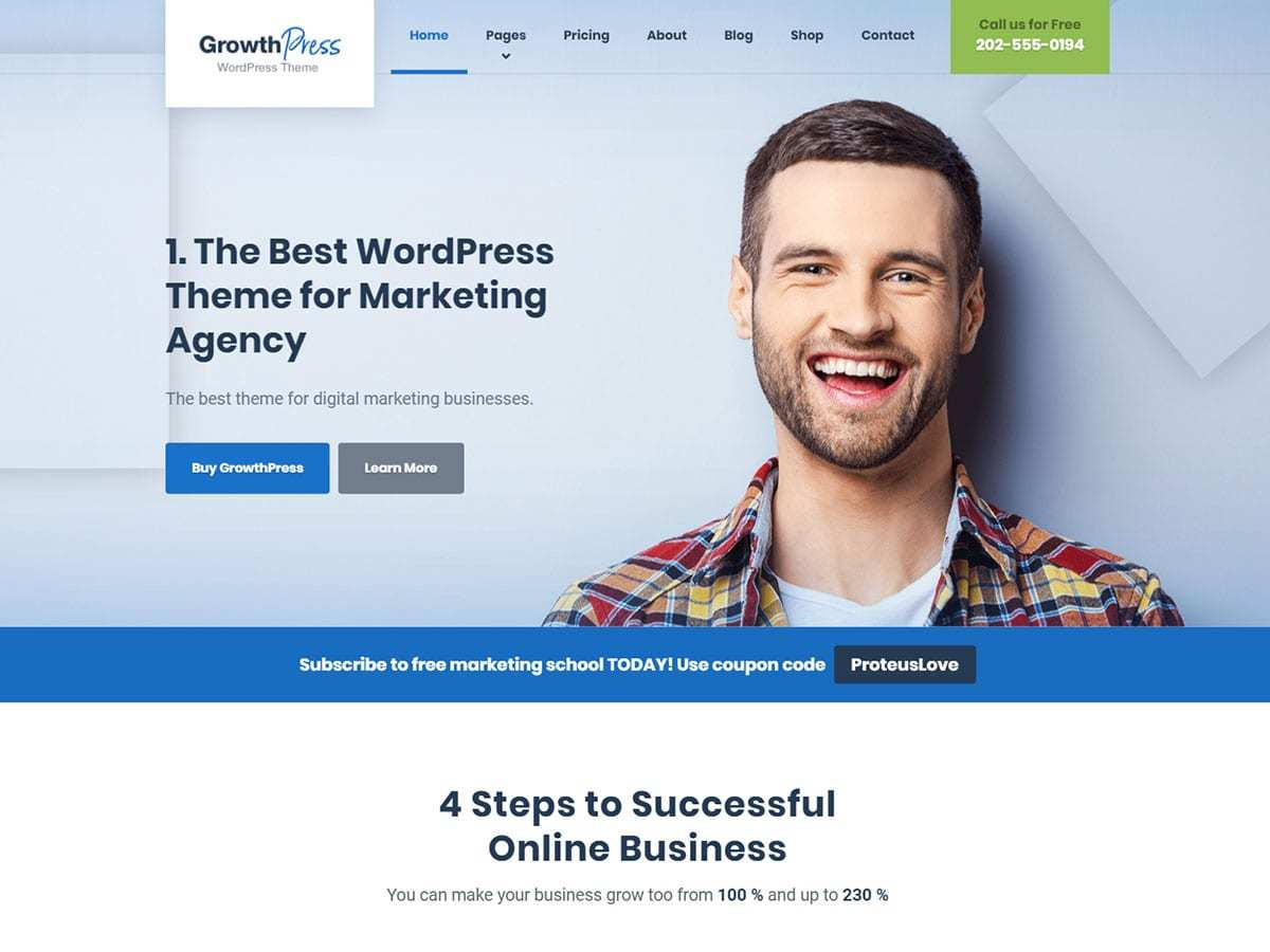 GrowthPress PT theme WordPress