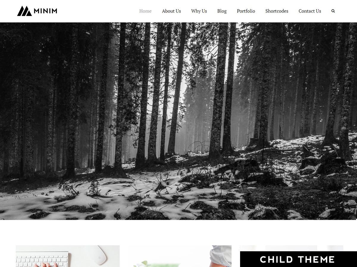 Minim Child WordPress page template