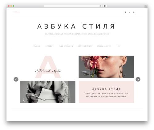 Pink Theme premium WordPress theme - abcofstyle.ru