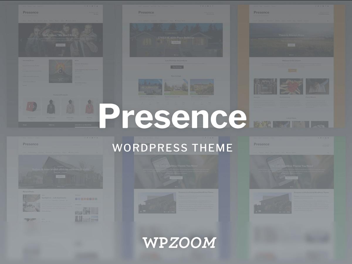 Presence WordPress blog template