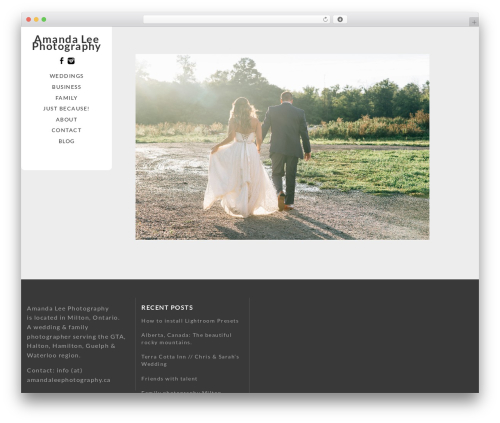 Template WordPress Vertex - amandaleephotography.ca