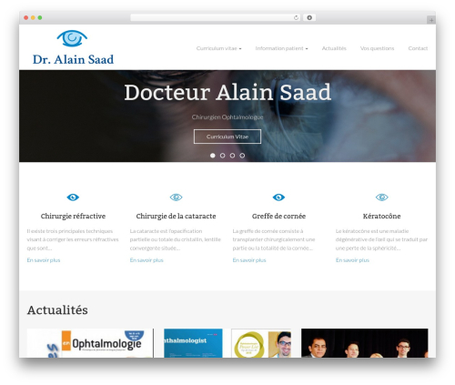 WordPress theme Alain Saad - alainsaad.com